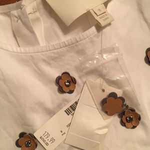 NWT J.crew Collection embellished cotton shell